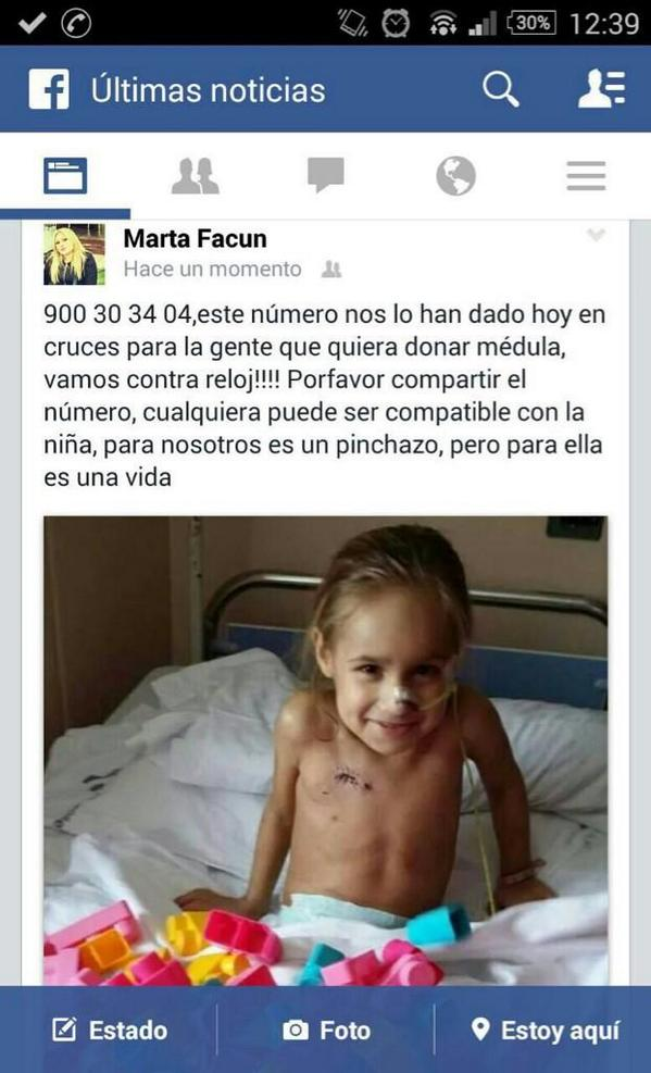 X favor podéis retuitear? Muchas gracias. #Donamédula http://t.co/G3U3ywyhrj