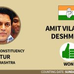 RT @htTweets: Amit Deshmukh, son of former #Maharashtra CM Vilasrao Deshmukh, wins from Latur. #PollResults: http://t.co/En3c6bfZEw http://…