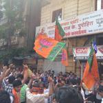RT @MohitChaturvedi: Victory celebrations for our Rockstar BJP @BjpRajKPurohit from Colaba Mumbai. @BJP4India @MahaBJP @narendramodi http://t.co/f70HDHyvsb
