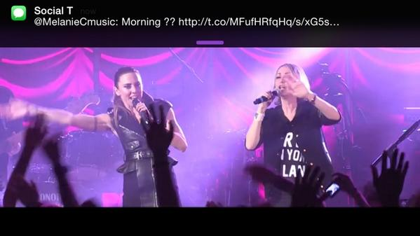 Reliving the @MelanieCmusic #sportysfortywebcast and someone
