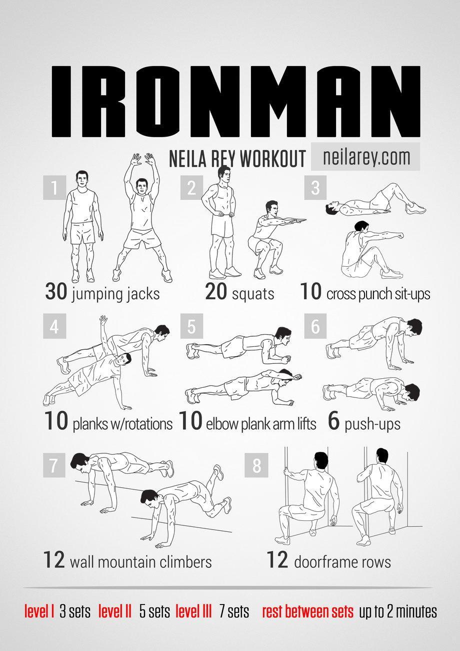 """Domingos de """"No gym? No problem?"""" ¿Cómo sería la rutina de entrenamiento de Ironman? Quizás como esta, ¿la probamos? http://t.co/OdoPgQvgRx"""