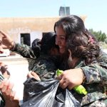 RT @SlemaniTimes: Female #YPG fighters hug one another after intensive fighting against #ISIS in #Kobani. #ISIL #Airdrop2Kobane http://t.co/C34DPKZbAI