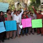 #PTIHyderabad @isfhyd Protest against target killing of our PTI Hyderabad Workers #FailedSindhGovt #FailedSindhPolice http://t.co/xQjpasxx7e
