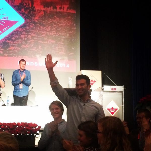 AUF har fått ny leder! #AUFLM http://t.co/xOt1Bd4Rg5