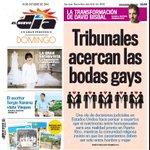 En portada: Tribunales acercan las bodas gays http://t.co/RBRDB4FSXS