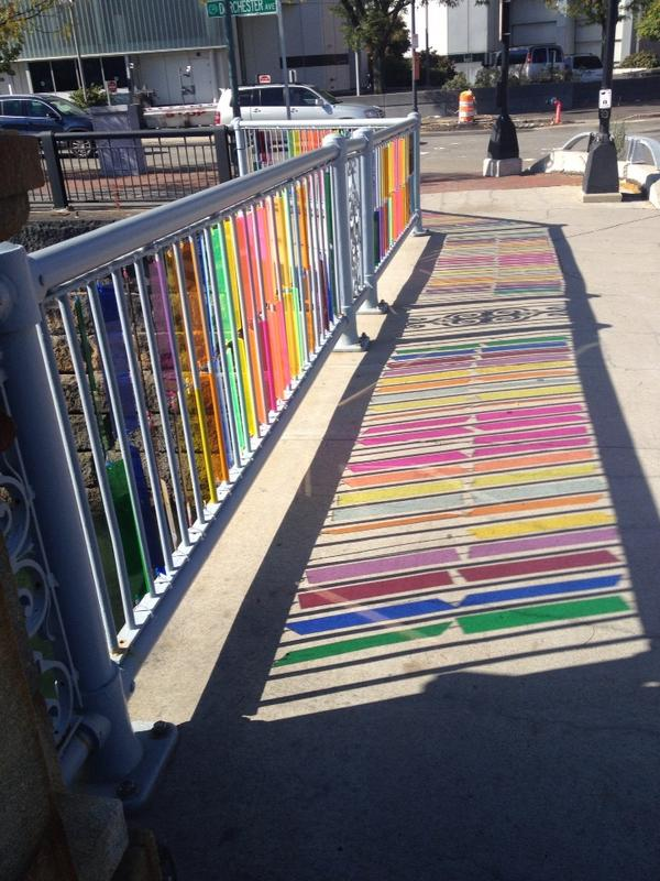 Love this piece of #publicart on the Congress St bridge! http://t.co/rzJQkySPOi