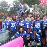 Worcester Tech football supporting Making Strides Against Breast Cancer at Elm Park. http://t.co/PiS7VSJzjO