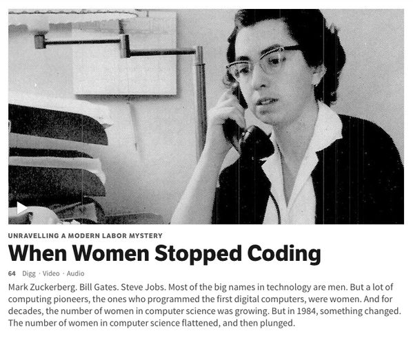 @catek @HennsEggs thanks for the fantastic podcast on women in CS! btw we have it up on digg as the top story this am http://t.co/7RdWjukTWn