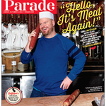 RT @claudia_g: My final cover for @ParadeMagazine - thank you @JimGaffigan and @KatzsDeli for such a fun and delicious shoot! http://t.co/T…