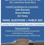 RT @TOPCA_Executive: WARD 1 DEBATE: Tues Oct 21 @ 7-9pm, Clarke Hall #PortCredit w/ Councillor candidates; Trustee statements #Misspoli http://t.co/9uMLp2WALs