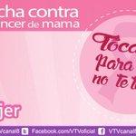 RT @VTVcanal8: #TocateParaQueNoTeToque   Venezuela movilizada en la lucha contra el cáncer de mama http://t.co/e3b3o1fRQj