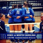 RT @Duke_ATHLETICS: Join @Duke_VB today at 1p in Cameron. The #BlueDevils will face off against @GoHeels! #OurBlueIsBest http://t.co/chOl9dayyP