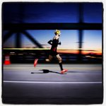 RT @ericseals: The sun starts to rise as a runner crosses the #AmbassadorBridge during the @FreepMarathon @freep in #Detroit http://t.co/T1M1u5HxkX