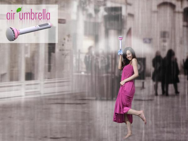A Chinese inventor designed an new umbrella that creates a force-field of air to protect you from the rain: http://t.co/oARQcjnNHZ
