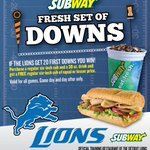 RT @Lions: Since the #Lions converted 21 first downs today, you can redeem this offer at Michigan @SUBWAY restaurants! http://t.co/deUYFpEUeS