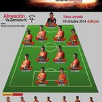 #Primera| En Digital, el 11 Inicial de los #InsignesGuerreros ante Zamora FC #VamosDANZ http://t.co/i4ncwcJK4H