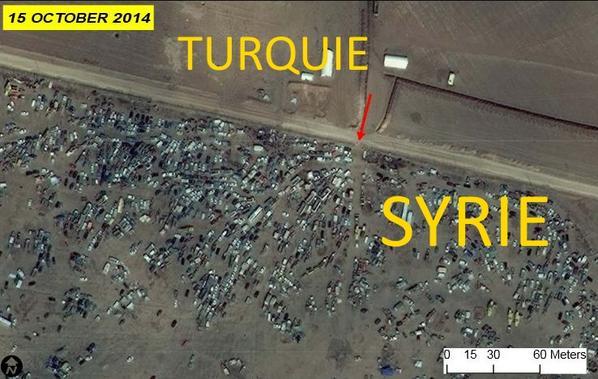 Kobané: les images satellite de l'exode http://t.co/mSd8m3vEO9 http://t.co/BrI1VJnkwZ