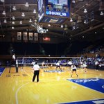 RT @BlueDevil_NTWRK: Big matchup going on in Cameron between @Duke_VB & UNC right now! #GoDuke! http://t.co/OK4B2yc4bd