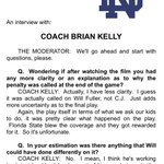 RT @AdamS_FOX28: Here are the previously mentioned comments from #NotreDame coach Brian Kelly about the penalty on 4th & 2 #NDvsFSU http://t.co/vKqATSy4rJ