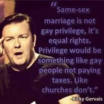 Wise words @rickygervais! #LGBTI #marriage #love http://t.co/gwFTZ7xXQo