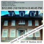 #Tax Auction #Mansion Madness Detroits Story predicts 2017 W #Boston #Detroit will go for NO less then $68,000 http://t.co/quaHZt3qZT