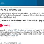 RT @zededao13: A Globo comprova que é falsa a informação de Aécio sobre as Hidrovias Brasileiras. #DebateNaRecord #QueroDilmaTreze http://t.co/Jd1kZkCI6X