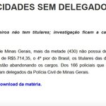 RT @RodP13: #QueroDilmaTreze Com METADE das cidades SEM DELEGADO, violência cresce em Minas http://t.co/JJRsT3cXs1 13: 1o turno! http://t.co/MnYEf2naT2