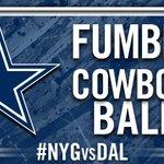 RT @dallascowboys: FUMBLE! Cowboys Ball #NYGvsDAL
