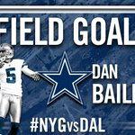 RT @dallascowboys: .@danbailey95 is GOOD from 49 yards. #NYGvsDAL http://t.co/NJqiCa3R65