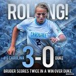 How bout them Tar Heels?! @ncwomenssoccer drops Duke, 3-0, behind two scores from Emily Bruder. #GoHeels http://t.co/ljNDhhwjhJ