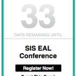 33 days until the #SISRocks EAL Conference! Only a few spots left, register today! http://t.co/H7Xpww6qg9 http://t.co/DFxqz0PLFW