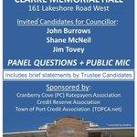 WARD 1 DEBATE: Tues Oct 21 @ 7-9pm, Clarke Hall #PortCredit w/ Councillor candidates; Trustee statements #Misspoli http://t.co/5Unk4PyBFJ