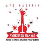 "RT @TMCPoldaMetro: Jadwal Pesta Syukuran Rakyat di kawasan Monas http://t.co/f0g0qeNm00 http://t.co/tf3K7sGEBt"""