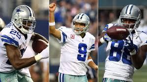Welcome the newest SET of Triplets to your DALLAS COWBOYS!!  ROMO-DEZ-DeMARCO http://t.co/CGtiaVgX7z