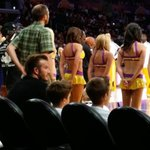 While Landon Donovan plays his last regular season home game, David Beckham is at a Lakers preseason game. http://t.co/lMJipPAEt6