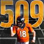 History is made.  Peyton Manning finds Demaryius Thomas for an NFL record 509th career touchdown pass.  #Peyton509 http://t.co/NyD7uE7q7R