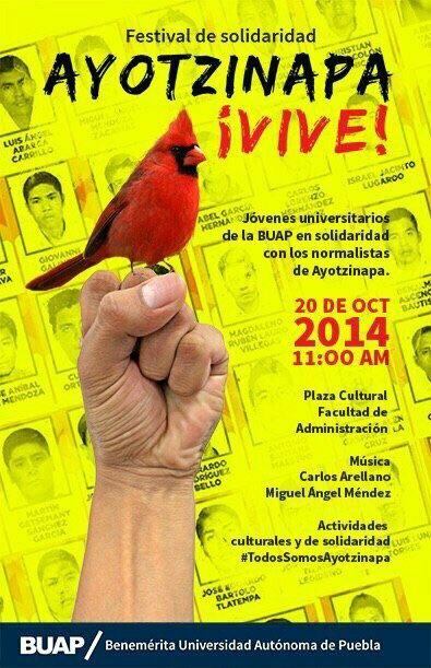 Festival de Solidaridad Ayotzinapa ¡Vive! #TodosSomosAyotzinapa http://t.co/gVMg09oW4L