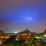 Dust, rain and lightning over Tempe tonight. #azcphoto #weather #AZweather http://t.co/pGO3YQDlHj