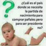 RT @nakamartinez: #Venezuela único país del mundo donde piden partida de nacimiento para comprar pañales, pero no para ser #Presidente http://t.co/MBBZIiAWn3