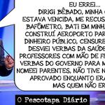 """RT @RegisBeaGalo13: No mundo do """"eu me arrependi"""": -""""Errar é humano..... Errar tanto é tucano!"""" #QueroDilmaTreze http://t.co/UJzdwoU3lP @biacall8 @Durval13PT"""
