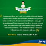 RT @Rede45: As considerações de Aécio ao fim do debate de hoje. #EmTodoBrasilAecio45 http://t.co/lLYQFsybZE