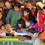 RT @DrAwab: Chairman Imran Khan cutting the Diwali Cake with everyone on #PTI4InterFaithHarmony Day - I enjoyed this photograph http://t.co/uMIAuCCGAt