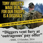 RT @TimWattsMP: Asst Minister claimed a 3% pay rise for diggers was outrageous under Labor, so whats a 1.5% offer under LNP? #QT http://t.co/5zJtaIoEsW