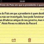 """RT @teresinhalopes: @AecioNeves matou a pau quando deu aula pra DILMA """" De como ser um estadista >> http://t.co/dC71OT1JwZ"""