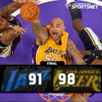"""@TWCSportsNet: The #Lakers trailed by 22 but fought back to get the 98-91 win over the #Jazz at Staples Center. http://t.co/8VtxvWfeyu"""