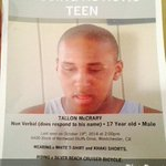PLEASE please RT!! Praying for the safe return of Tallon McCrary missing non verbal #autism LA area help us find him! http://t.co/F9f9JMUNad