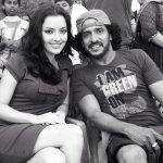 Actress Kristina Akheeva With Upendra on the set of #Uppi2 at Mangalore