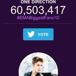 Were in the lead again but theyre close! #EMABiggestFans1D http://t.co/G59mVY7Hwl