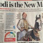 RT @thekiranbedi: : EconomicTimes: depicting @narendramodi as the iconic Marathi warrior-king, Shivaji after 2 solid Victories http://t.co/8O6UEzubFi