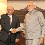 RT @MIB_India: Foreign Minister of Nepal Shri Mahendra Bahadur Pandey calling on the Prime Minister, Shri @narendramodi in New Delhi http://t.co/KhRWBQAeHw